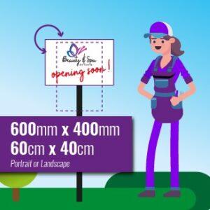 Chromadek Signs 600mm x 400mm with premium full colour print