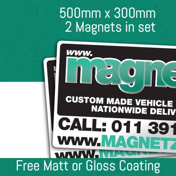 Car Magnets - 500Mm X 300Mm (2 In Set)