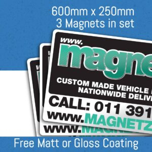 Car Magnets - 600mm x 250mm (3 in Set)