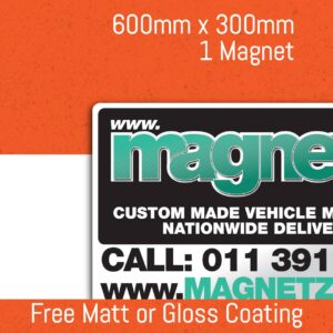 Car Magnets - 600mm x 300mm (Single Unit)