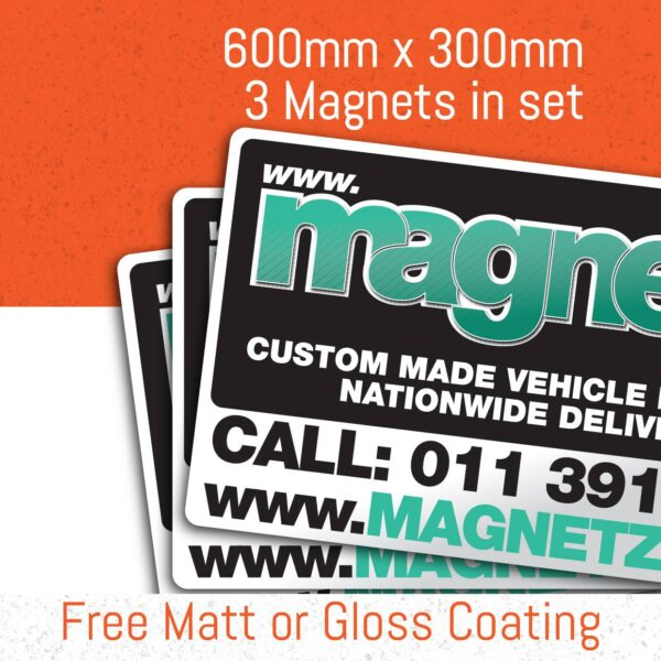 Car Magnets - 600Mm X 300Mm (3 In Set)