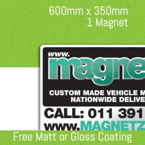 Car Magnets - 600mm x 350mm (Single Unit)