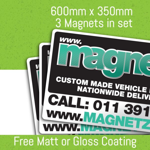 Car Magnets - 600Mm X 350Mm (3 In Set)
