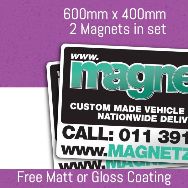 Car Magnets - 600Mm X 400Mm (2 In Set)