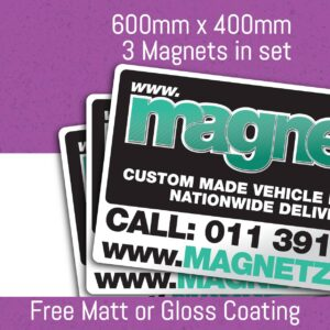 Car Magnets - 600mm x 400mm (3 in Set)