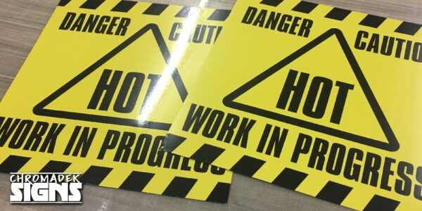 Chromadek Signs 600Mm X 600Mm With Premium Full Colour Print