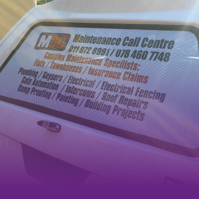 Contravision Car Rear Window Wrap